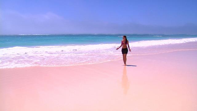 Bãi biển cát màu hồng, Bahamas