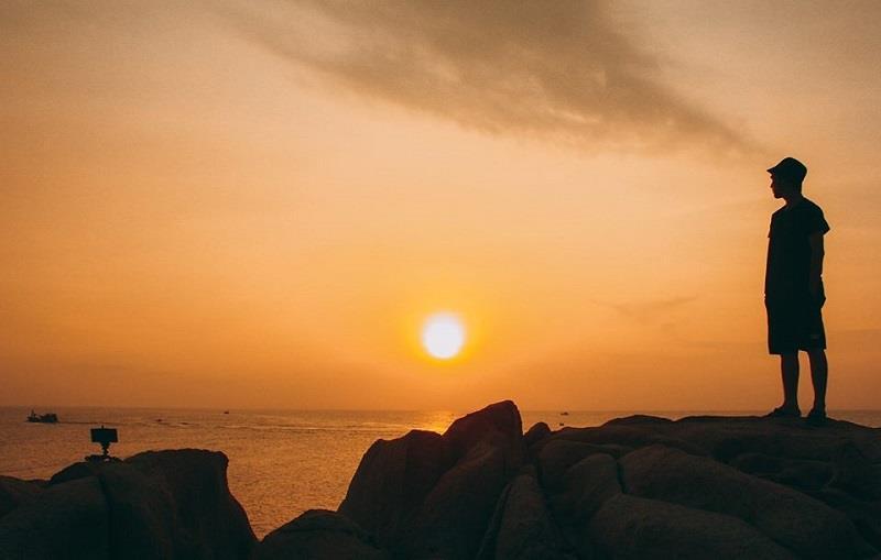 Bình minh trên đảo Kê Gà