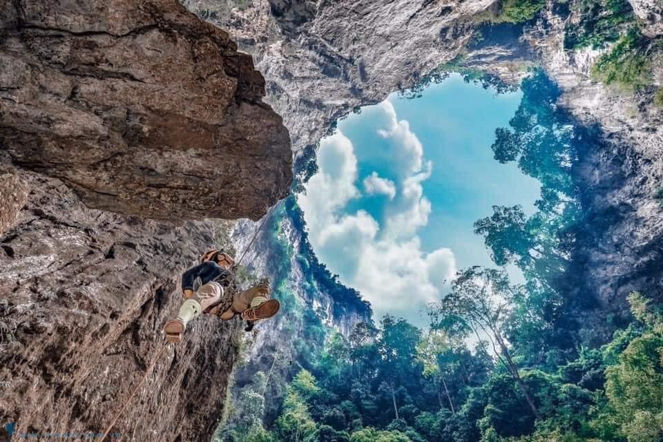 Kong Collapse - Hố sụt 'quái vật' trong lòng hang động Quảng Bình